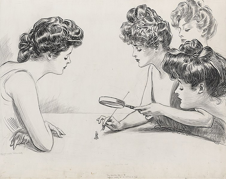 756px-Gibson_Girls_Magnifying_Glass_by_Charles_Dana_Gibson